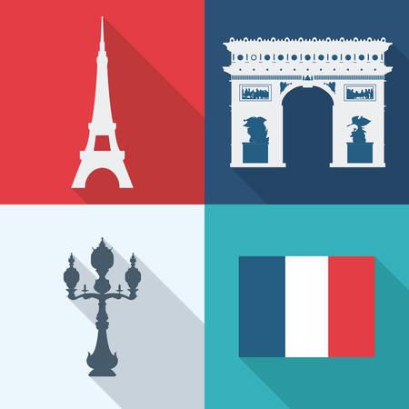 pont: Paris design, vector illustration.
