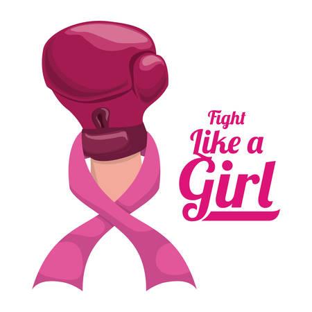 breast: Breast cancer design over white background ,vector illustration. Illustration