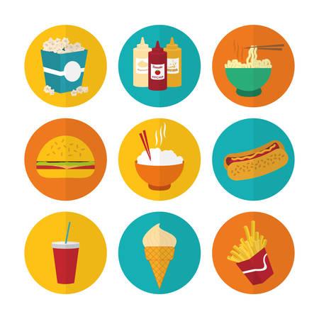 Food design over white background, vector illustration. Illustration