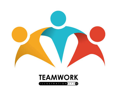 Teamwork design over white background, vector illustration.