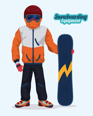 snowboarder: Snowboarder design illustration.