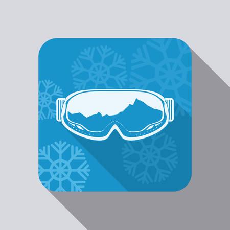 snowboarding: Snowboarding goggles design illustration. Illustration