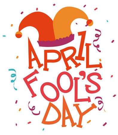 clown cirque: Avril jour d'imb�ciles illustration de conception.