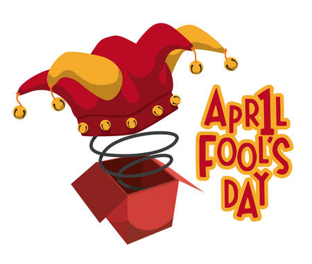 April Fools Day ontwerp illustratie. Stock Illustratie