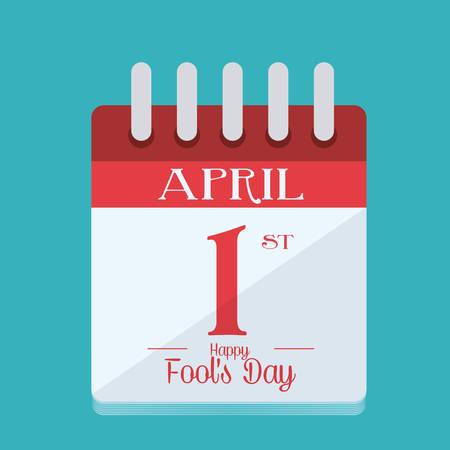 pranks: April fools day design illustration.