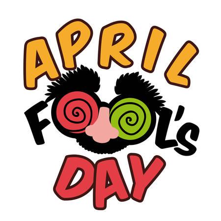 4월: 에이프릴 일 디자인 일러스트 레이 션을 바보.
