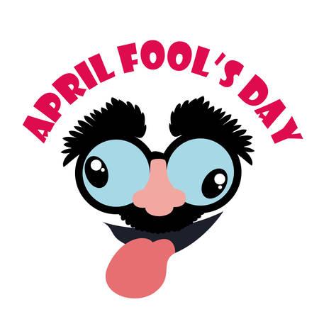 4월: April fools day design illustration.