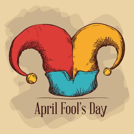 pranks: April fools day design, vector illustration.