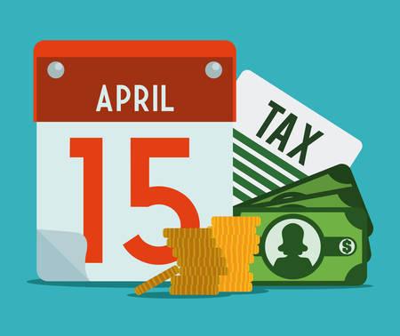 taxes: Taxes design over blue background, vector illustration.