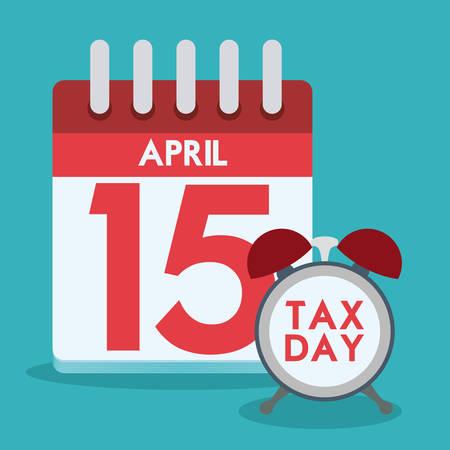 impuestos: Impuestos de diseño sobre el fondo azul, ilustración vectorial. Vectores