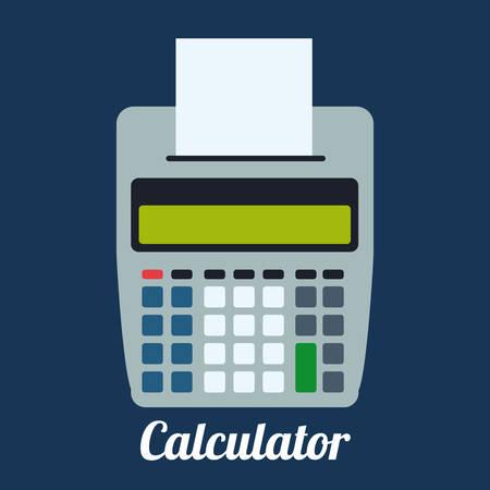 reckon: Calculator design over blue background