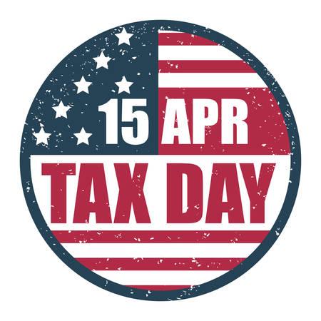 impuestos: Dise�o d�a Impuesto sobre el fondo blanco Vectores