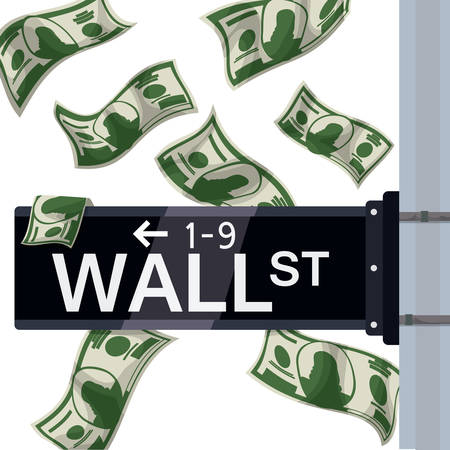 wall street: Wall street design over white background