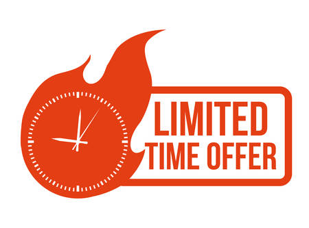 limited: Limited Time Offer design over white background