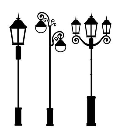 power saving lamp: Lamps design over white background Illustration