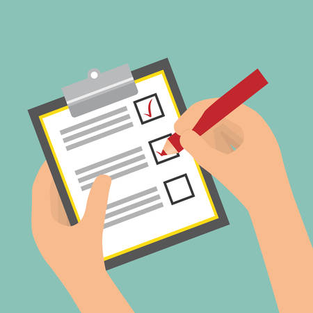 Survey design over blue background  イラスト・ベクター素材