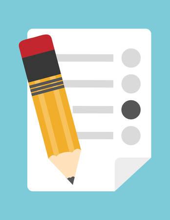 Survey design over blue background Illustration