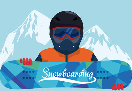 Snowboarder design illustration.