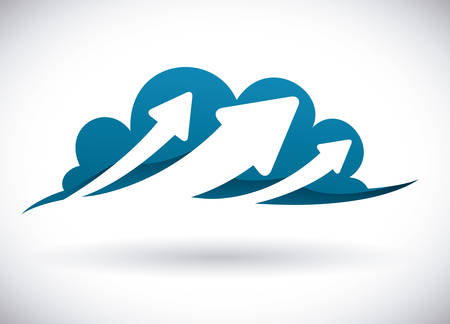 Cloud computing design over white background Ilustração