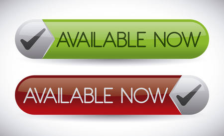 available: Available now label design