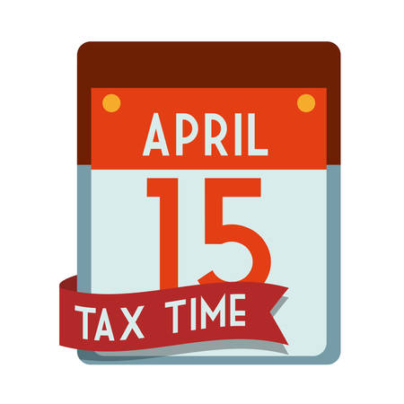payday: Tax day design over white background