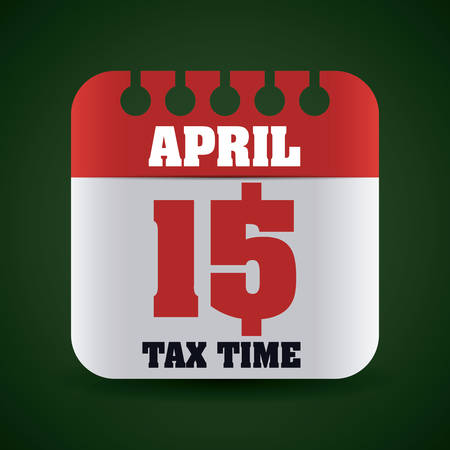 payday: Tax time design over green background