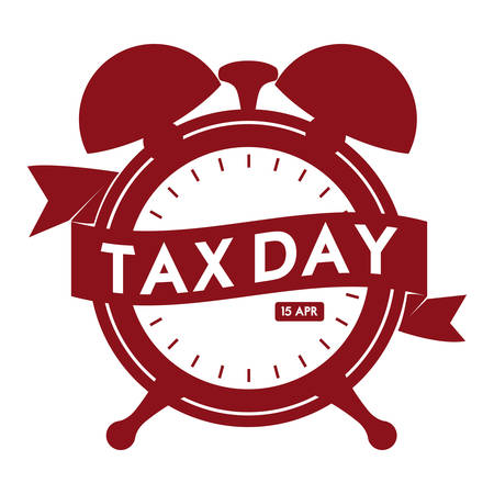 Tax day design over white background