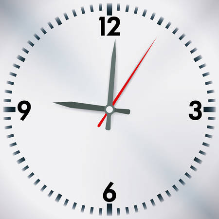 time over: Time design over white background