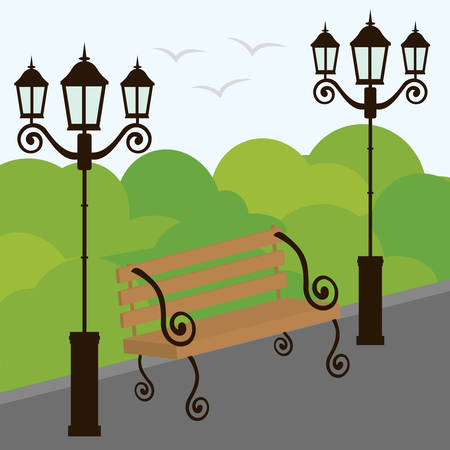 Park design over green background