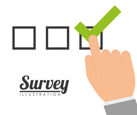 customer survey: Survey design over white background