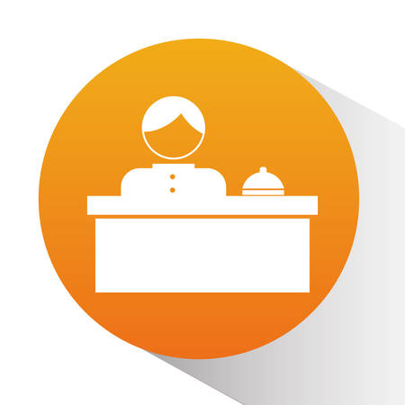 hotel reception: Hotel reception design over white background Illustration