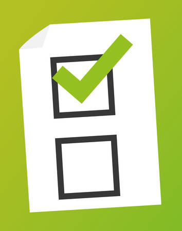 opinion poll: Survey design over green background illustration.