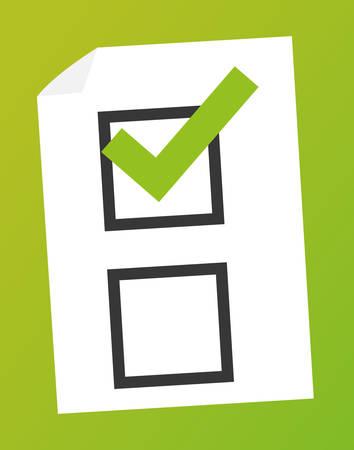poll: Survey design over green background illustration.