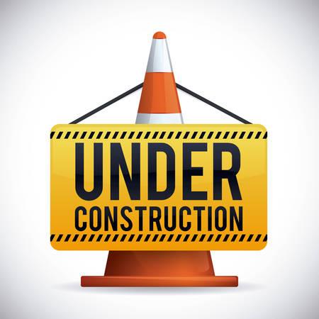 construction equipment: Under construction design, vector illustration.