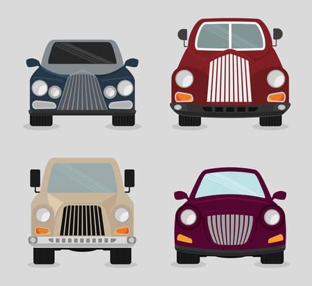 classics: Vehicle design over white background, vector illustration. Illustration