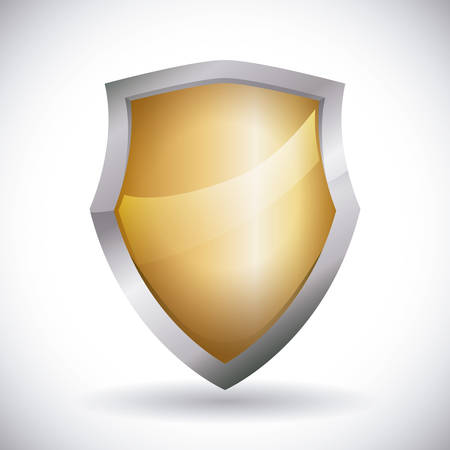 sherif: Security design over white background, vector illustration.