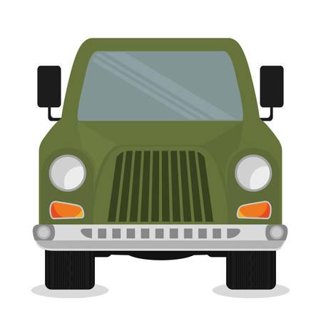 pick light: Vehicle design over white background, vector illustration. Illustration
