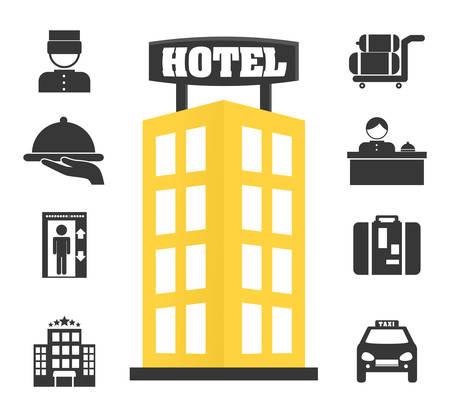 Hotel design over white background, vector illustration.