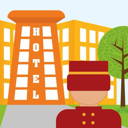 tree service business: Hotel design over white background, vector illustration.