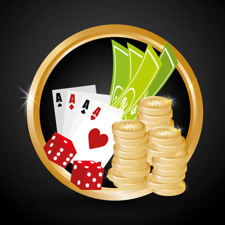 wining: Casino design over white background, vector illustration. Illustration
