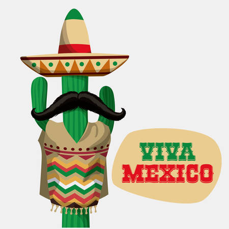 mexican party: Mexico  mexican culture card design, vector illustration.