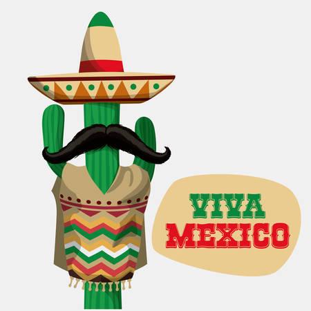 Mexico / mexican culture card design, vector illustration.