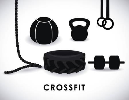Fitness design over white background, vector illustration. Vector