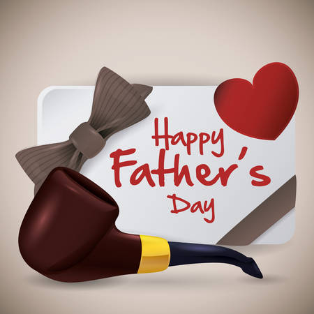 Happy fathers day beige design, vector illustration.