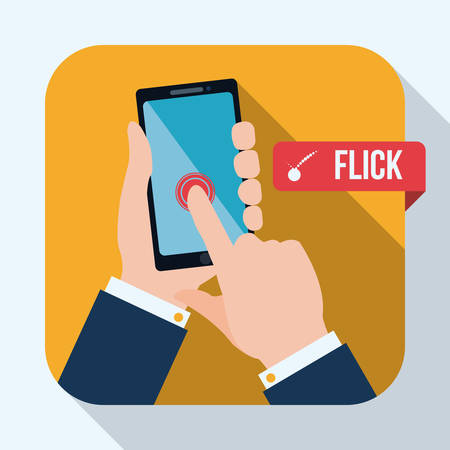 Smartphone design over white background, vector illustration.