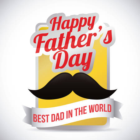 happy world: Happy fathers day card design, vector illustration.