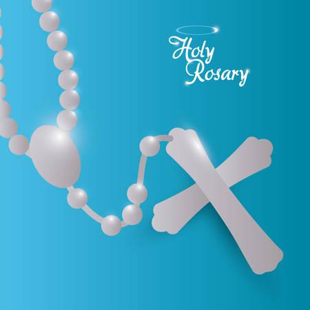 testament: Religion design over blue background, vector illustration.