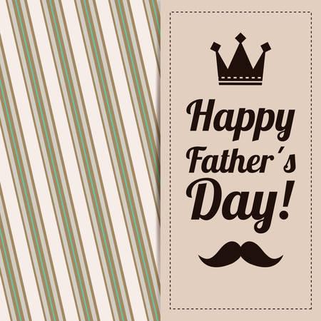 happy fathers day card: Happy fathers day card design, vector illustration.