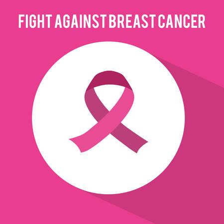 cancer prevention: Cancer design over pink background, vector illustration.
