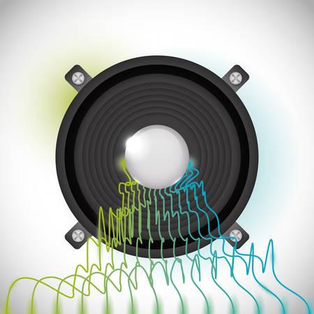 vibrations: Sound design over white background, vector illustration. Illustration